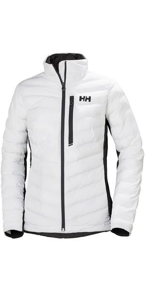 2019 Helly Hansen Chaqueta aislante híbrida para mujer HP 34080 blanca