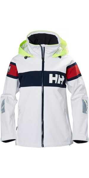 2019 Helly Hansen Womens Salt Flag Jacket Weiß 33923