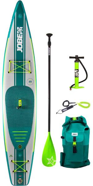"2019 Jobe Neva Inflável Stand Up Paddle Board 12'6 x 30 ""INC Paddle, mochila, bomba e trela"