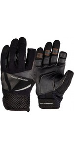 2020 Magic Marine Three Finger Ultimate Sailing Gloves Black 180004