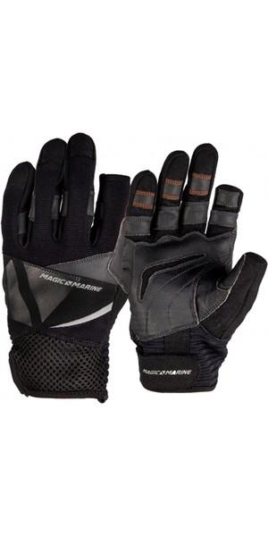 2019 Magic Marine Three Finger Ultimate Sailing Gloves Black 180004