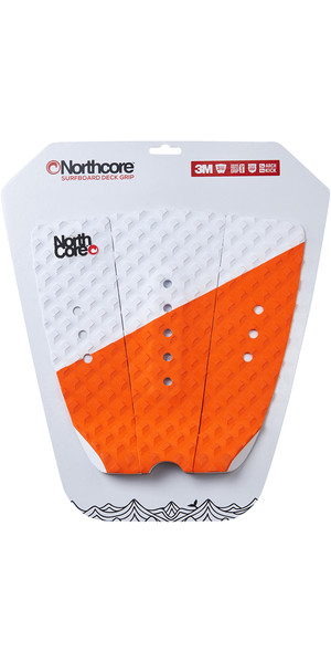 2019 Northcore Ultimate Grip Deck Pad Orange / Weiß NOCO63E