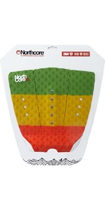 2020 Northcore Ultimate Grip Deck Pad The Rasta Red / Green / Yellow NOCO63G