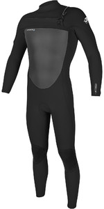 2021 Homens O'Neill Epic 3/2mm Chest Zip Wetsuit 5353 - Preto