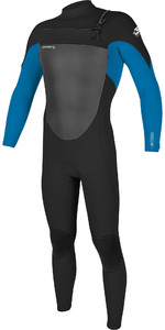 2019 O'Neill Mens Epic 4/3mm Chest Zip Wetsuit Black / Bright Blue 5354
