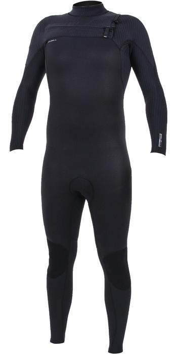 2020 O'Neill Mens HyperFreak+ 3/2mm Chest Zip Wetsuit 5343 - Black