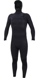 2020 O'neill Homens Hyperfreak + Wetsuit Com Capuz No Chest Zip Com Chest Zip 4/3mm 5346 - Preto