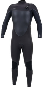 2019 O'Nill Psycho Tech + 5/4mm Wetsuit Met Chest Zip Raven / Zwart 5365