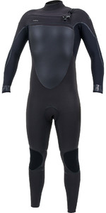 2019 O'Neill Mens Psycho Tech+ 5/4mm Chest Zip Wetsuit 5365 - Black / Abyss