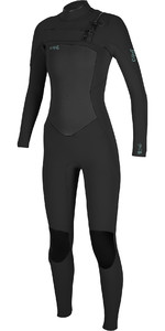2020 De Las Mujeres O'Neill Epic 4/3mm Chest Zip Gbs Wetsuit 5356 - Negro