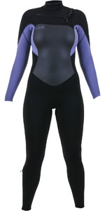 2020 De Las Mujeres O'Neill Epic 4/3mm Chest Zip Gbs Wetsuit 5356 - Negro / Niebla