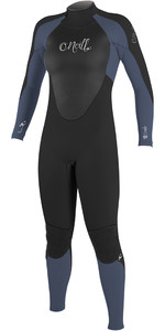 2019 O'Neill Womens Epic 4/3mm Back Zip GBS Wetsuit Black / Mist 4214