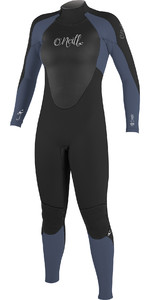 2020 O'Nill Dames Epic 5/4mm Gbs Back Zip Wetsuit Zwart / Mist 4218