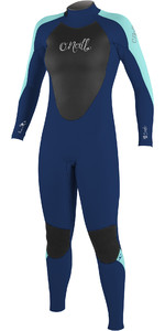 2019 O'neill Epic 5/4mm Back Zip Gbs Wetsuit Navy / Aqua 4218