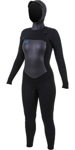 2019 O'Neill Womens Epic 6/5/4mm Chest Zip Hooded Wetsuit Black 5378