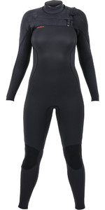 2020 O'Neill Womens Hyperfreak+ 4/3mm Chest Zip Wetsuit Black 5349
