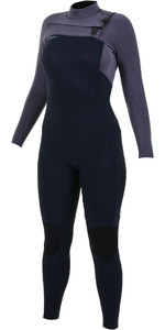 2019 O'Neill Womens Hyperfreak+ 5/4mm Chest Zip Wetsuit Abyss / Dusk 5374
