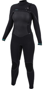2020 O'Nill Dames Psycho Tech 5/4 5/4+mm Wetsuit Op De Chest Zip Zwart 5367