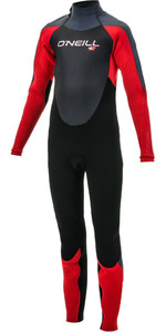 2019 O'neill Youth Epic 4/3mm Back Zip Gbs Wetsuit Preto / Vermelho 4216