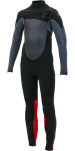 2019 O'neill Youth Epic 4/3mm Chest Zip Gbs Wetsuit Preto / Graphite / Vermelho 5358