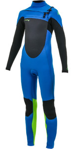 2020 O'Neill Youth Epic 4/3mm Chest Zip GBS Wetsuit Ocean / Black / Day Glo 5358