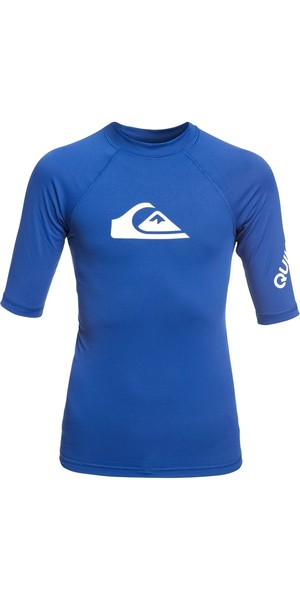 2019 Quiksilver Jungen All Time Kurzarm Rash Weste Electric Royal EQBWR03074