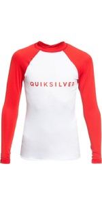 2019 Quicksilver Boy's Always There Ls Rash Vest High Risk Red Eqbwr03077