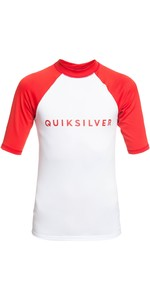 2019 Quicksilver Boy's Always There Ss Rash Vest High Risk Red Eqbwr03076