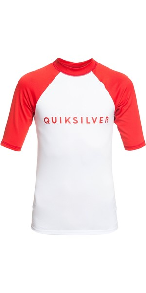 2019 Quicksilver Boys Always There SS Rash Vest High Risk Rød EQBWR03076