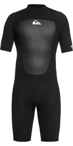 2019 Quiksilver 2mm Prologue Back Zip Shorty Wetsuit Negro Eqyw503010