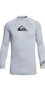 2019 Quiksilver All Time Long Sleeve Rash Vest Light Grey EQYWR03137