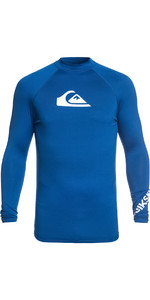 2019 Quiksilver All Time Long Sleeve Rash Vest Royal Blue EQYWR03137