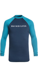 2019 Quiksilver Always There Long Sleeve Rash Vest Medieval Blue EQYWR03143