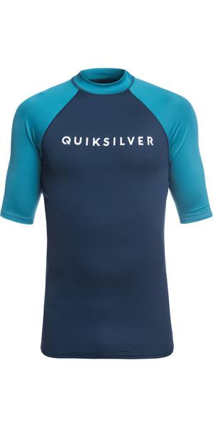 2019 Quiksilver Always There Short Sleeve Rash Vest Blu medievale EQYWR03142