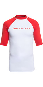 2019 Quiksilver Always There Short Sleeve Rash Vest Rød EQYWR03142