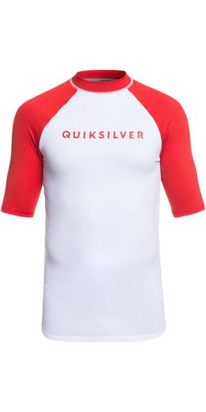 2019 Quiksilver Always There - Maglia manica corta a maniche corte rossa EQYWR03142