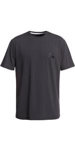 2019 Quiksilver Bubble Logo T-shirt Manica Corta Rash Vest Tarmac Eqywr03151