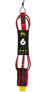 "2019 Quiksilver Euroglass Highline Prancha De Surf Leash 6'0 ""red Eglhhline6"