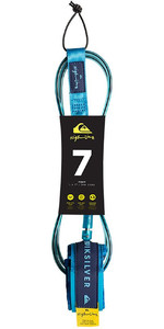 "2019 Quiksilver EuroGlass Highline SurfBoard Leash 7'0 ""Blauw EGLHHLINE7"