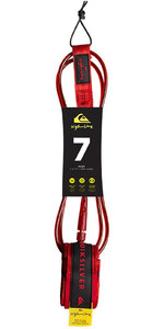 "2019 Quiksilver EuroGlass Highline SurfBoard Leash 7'0 ""Rood EGLHHLINE7"