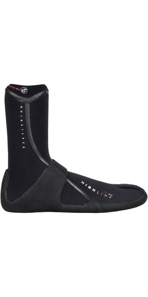 2019 Quiksilver Highline Lite 3mm Split toe Neoprene Boot Black EQYWW03021