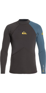 2019 Quiksilver Highline Plus 2mm Neopren Top Blå Stål Eqyw803017