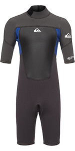 2020 Quiksilver Junior Prologue 2mm Shorty Wetsuit Graphite / Blue EQBW503008