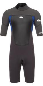 2019 Quiksilver Junior Prologue 2mm Shorty Wetsuit Graphite / Blue EQBW503008