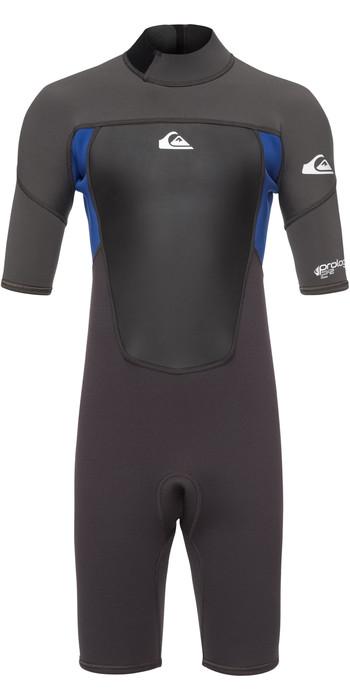 2021 Quiksilver Junior Prologue 2mm Shorty Anzug Graphite / Blau Eqbw503008