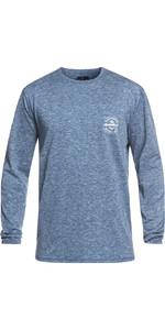 2019 Quiksilver King Tide Langærmet T-Shirt Fit Rash Vest Denim EQYWR03163
