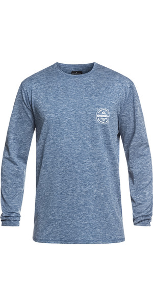 2019 Quiksilver King Tide Long Sleeve T-Shirt Fit Rash Vest Denim EQYWR03163