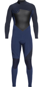 2019 Quiksilver Mens Syncro Série 3 / 2mm GBS Voltar Zip Wetsuit Iodo / Slate Azul EQYW103037