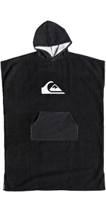 2019 Quiksilver Microfiber Hooded Towel / Change Robe Black EQYAA03741