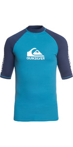 2019 Quiksilver On Tour Kortærmet Rash Vest Ocean Blue EQYWR03139